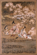 partying Beneath Cherry blossoms, Isawa  Matabei  1624 - 1644