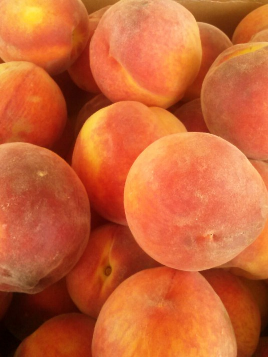 Fresh local peaches