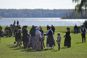 Teaching the minuet at the Virginia Thanksgiving Festival November 2010