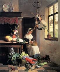 David Emile Joseph de Noter (1818-1892), A Maid In The Kitchen