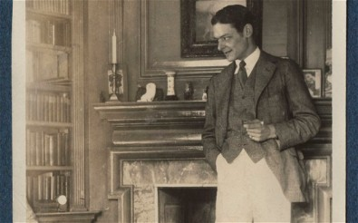 T S Eliot photographed by his friend and correspondent Ottoline Morrell. public domain image