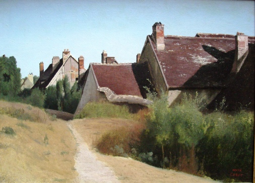 'Houses near Orleans', oil painting by Jean-Baptiste-Camille