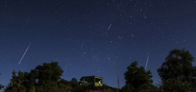 free public domain NASA photo Perseid meteor showers