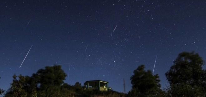 free public domain NASA photo Perseid meteor showers