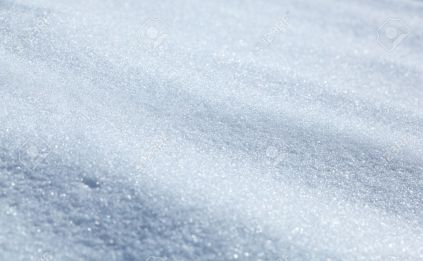 Closeup of snowfield winter background